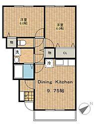 ミルキーハウス[1階]の間取り