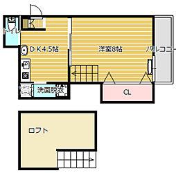 井上マンション5階Fの間取り画像