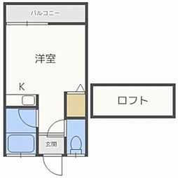 フラット須玖[201号室]の間取り