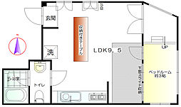 東京都杉並区阿佐谷南2丁目の賃貸マンションの間取り