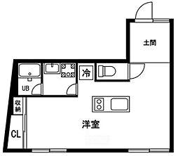 西武新宿線 久米川駅 徒歩5分の賃貸アパート 1階ワンルームの間取り