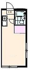 サクラハウス国立アパート 2階ワンルームの間取り