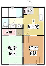 マ・メゾンI[1階]の間取り