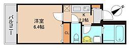 京成本線 京成船橋駅 徒歩4分の賃貸マンション 3階1Kの間取り