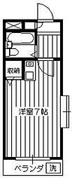煉瓦館58[3階]の間取り
