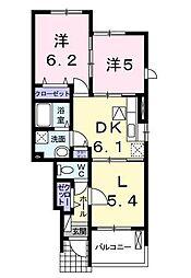 コスモス花影壱番館[1階]の間取り