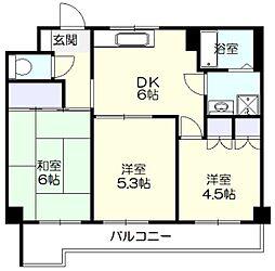 サンライフ荏田[2階]の間取り