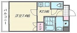 リヴァージュ箱崎[5階]の間取り
