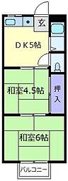 コーポイトー[2階]の間取り