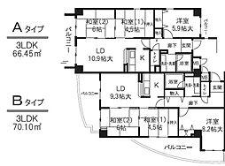 アルデール エスパシオ(東大阪)[4階]の間取り