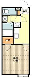 JR五日市線 秋川駅 徒歩21分の賃貸アパート 1階1Kの間取り