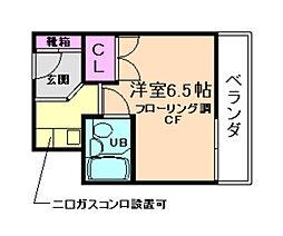 大阪府箕面市小野原西1丁目の賃貸マンションの間取り