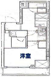 ロイヤル東栄日本橋 6階1Kの間取り