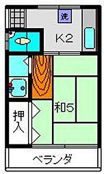 井出荘[2号室]の間取り