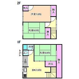 [テラスハウス] 大阪府枚方市大峰元町1丁目 の賃貸【/】の間取り