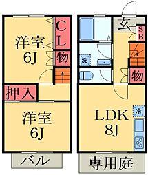 [テラスハウス] 千葉県千葉市緑区あすみが丘1丁目 の賃貸【/】の間取り