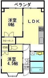 東京都練馬区土支田4丁目の賃貸マンションの間取り