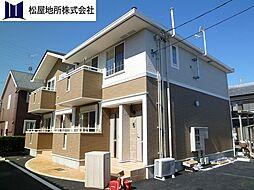 愛知県豊橋市神野新田町字イノ割の賃貸アパートの外観