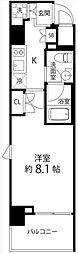 DeLCCS TOKYO BAY 5階1Kの間取り