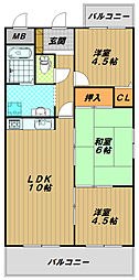 西明石マンション[2階]の間取り