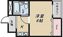 大阪府堺市堺区南清水町3丁の賃貸マンションの間取り