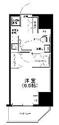 ルフレ プレミアム川崎 10階1Kの間取り