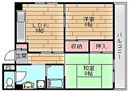 マンション龍幸[4階]の間取り