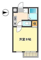 愛知県名古屋市名東区香坂の賃貸アパートの間取り