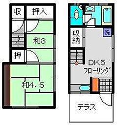 [テラスハウス] 神奈川県横浜市西区久保町 の賃貸【神奈川県 / 横浜市西区】の間取り
