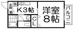 エスポワール藤阪[1階]の間取り