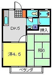 神奈川県横浜市港南区上永谷1丁目の賃貸アパートの間取り