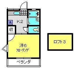 神奈川県横浜市旭区西川島町の賃貸アパートの間取り