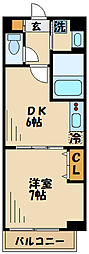 小田急小田原線 祖師ヶ谷大蔵駅 徒歩2分の賃貸アパート 4階1DKの間取り