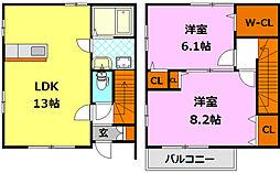 [テラスハウス] 栃木県小山市駅南町2丁目 の賃貸【/】の間取り