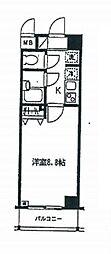メゾンド島津山[2階]の間取り