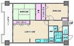 ロワールマンション青葉W棟[203号室]の間取り