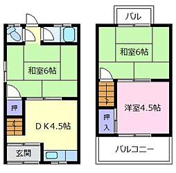 [一戸建] 大阪府松原市河合2丁目 の賃貸【/】の間取り