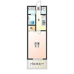 レクラン七道[4階]の間取り