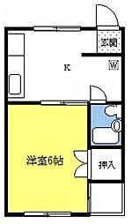 プリエールマンション[2A号室]の間取り