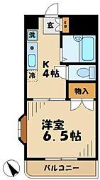 東京都多摩市中沢1丁目の賃貸マンションの間取り