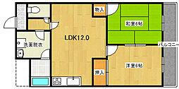 ミタカホーム8番[9階]の間取り