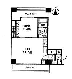 エルフレア駒沢[4階]の間取り