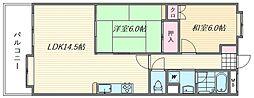 福岡県福岡市東区箱崎ふ頭3丁目の賃貸マンションの間取り