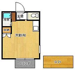福岡県福岡市西区愛宕2の賃貸アパートの間取り