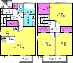 [テラスハウス] 兵庫県加古川市尾上町長田 の賃貸【/】の間取り