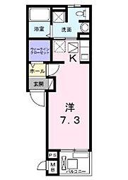 エムズレジデンス[3階]の間取り