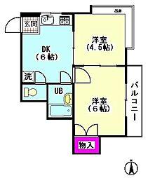 ハイパールマンションI[101号室]の間取り