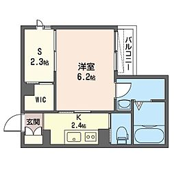 仮称 越谷市千間台西1丁目マンション 2階1SKの間取り