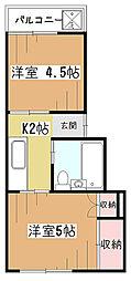 栄町レヂオンス[2階]の間取り