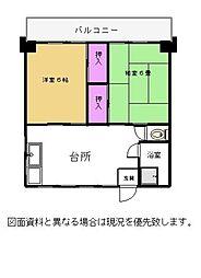 世界文化ビル 4階[401号室]の間取り